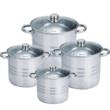 Royalty Line üvegfedős fazékkészlet 8 darabos ( 7.2 - 9 - 11.1 - 13.5 literes )