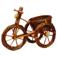 Fonott bicikli virágtartó 35 cm