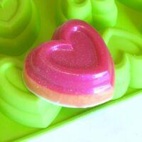 Szív szilikon sütőforma 6 részes