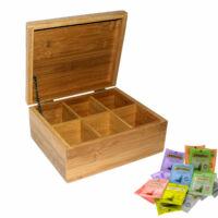Bambusz tea box 22x18x9cm