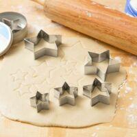 Csillag sütemény kiszúró szett 6 darab