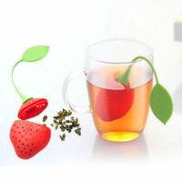 Szilikon teafilter eper