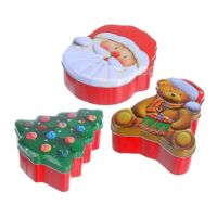 Karácsonyi tárolódoboz készlet 3 darab