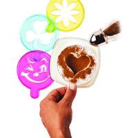 Kávé díszítő sablon 4 darab