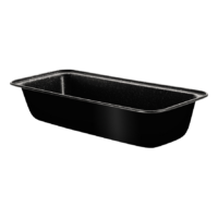 Fekete metál kenyérsütő forma 33 cm