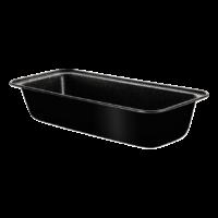 Fekete metál kenyérsütő forma 33 cm x 14 cm
