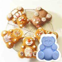 Maci alakú szilikon sütőforma 6 darab