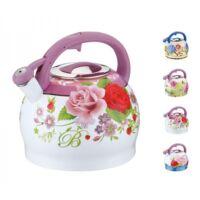 Zománcozott teáskanna 3.7 liter ( rózsa minta )
