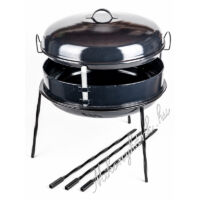 Zománcozott kerti grill 8 részes  (Magyar termék)