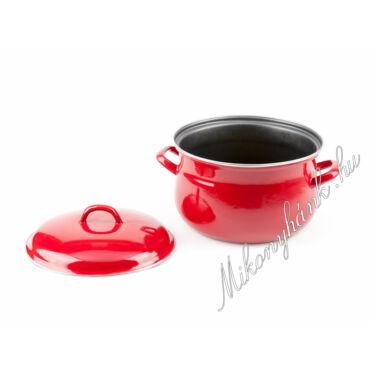 Piros öblös teflon edény fedővel 16 cm