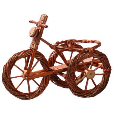 Fonott bicikli virágtartó váza nélkül 55 cm