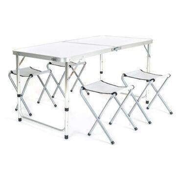 BILBAO Kempingbútor szett, asztal + 4 szék