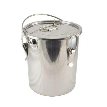 Rozsdamentes csatos ételhordó 25 liter