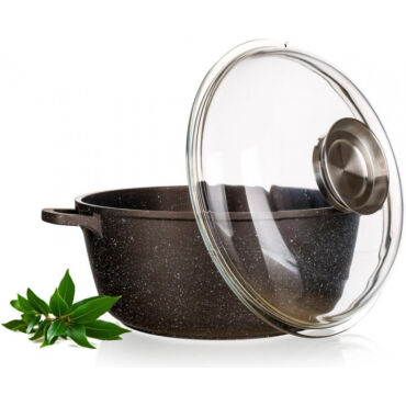 Gránit bevonatos edény + üvegfedő 6.7 liter