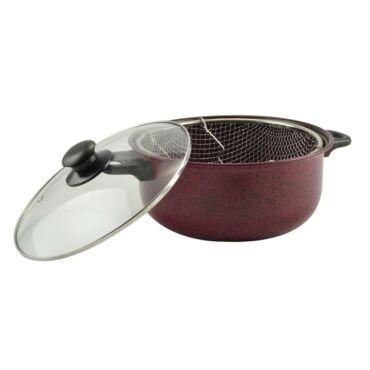 Piros Iron line krumplisütő tapadásmentes bevonattal 3 részes 3,5 literes