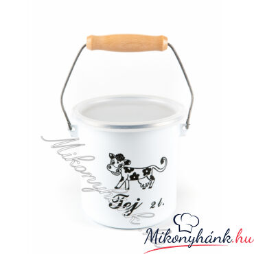 Bonyhádi zománcozott tejeskanna 2liter