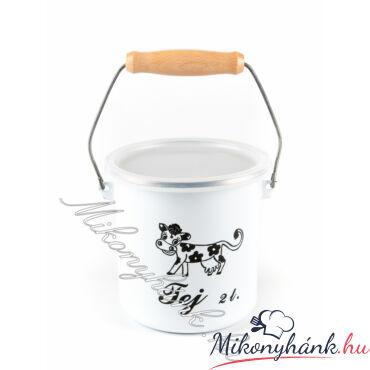 Bonyhádi zománcozott tejeskanna 2 liter