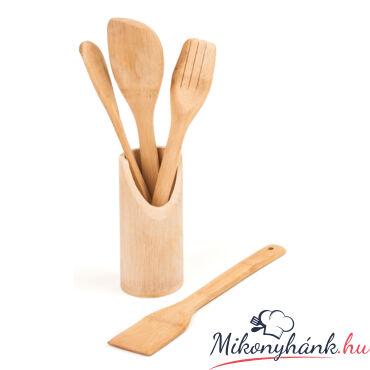 Bambusz fakanál készlet 4+1-es