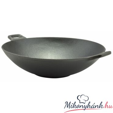 Öntöttvas wok 36.6cm