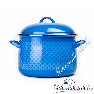 Bonyhádi zománcozott kék fazék 7.5 liter