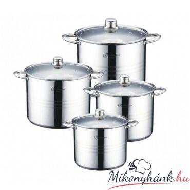 Bachmayer üvegfedős fazék készlet  9.5 - 12 - 14 - 16.5liter