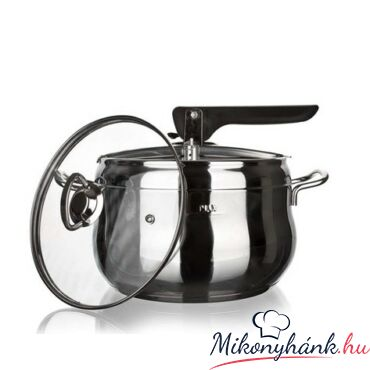 Gyorsfőző edény-Kukta 5liter + üvegfedő ( indukciós)