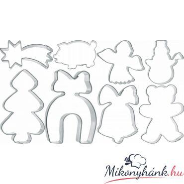 Karácsonyi sütemény kiszúró 8 darabos