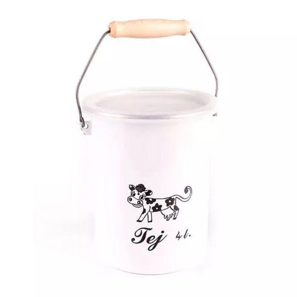 Bonyhádi zománcozott tejeskanna 4 liter