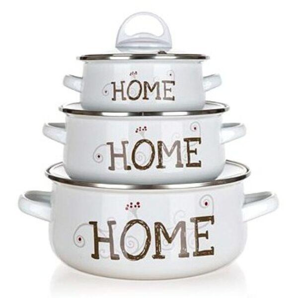 HOME zománcos edénykészlet 6 részes