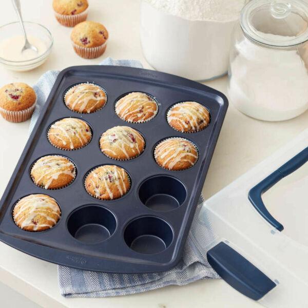 Bevonatos nagy muffin sütőforma 12 részes