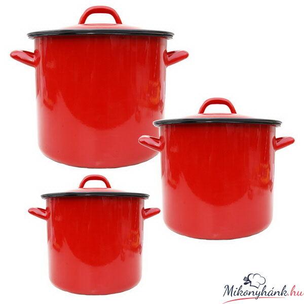 Piros zománcozott fazék 4 Liter