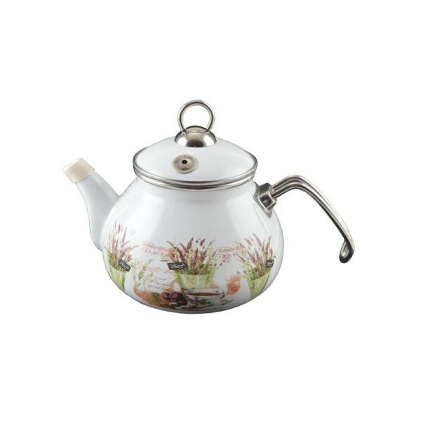 Levendula zománcozott teáskanna 2 liter