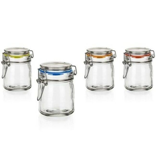 LINA csatos üveg tároló szett 150 ml (6db)