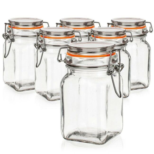 Lina csatos üveg tároló szett 250ml (6db)
