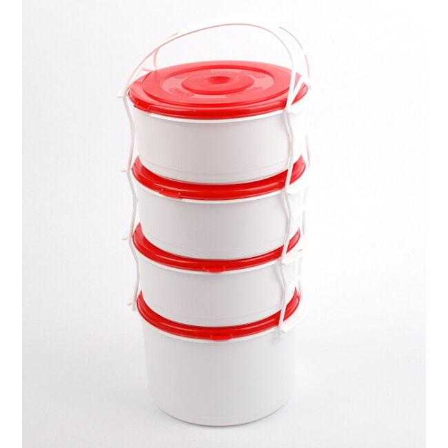 Műanyag ételhordó 3+1 részes (1+1.7liter)