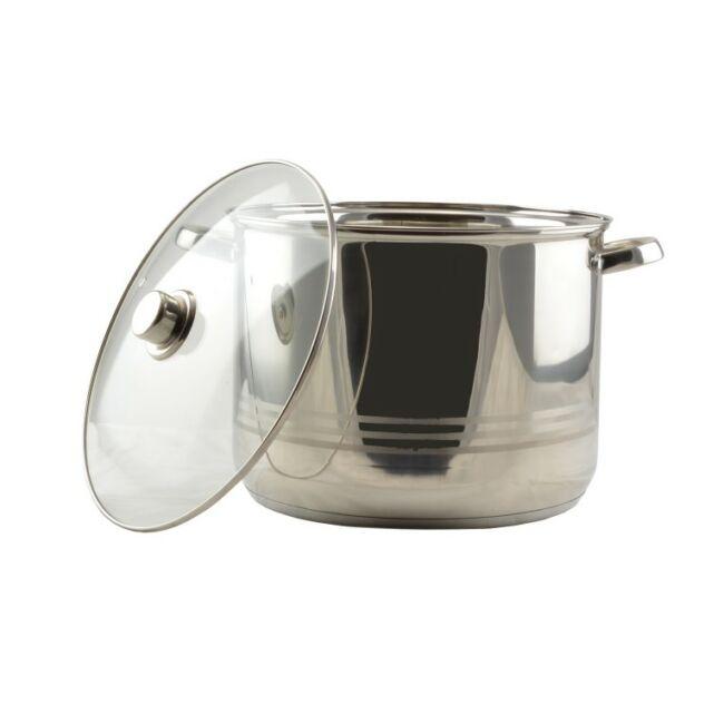 Rozsdamentes fazék + üvegfedő 19 liter
