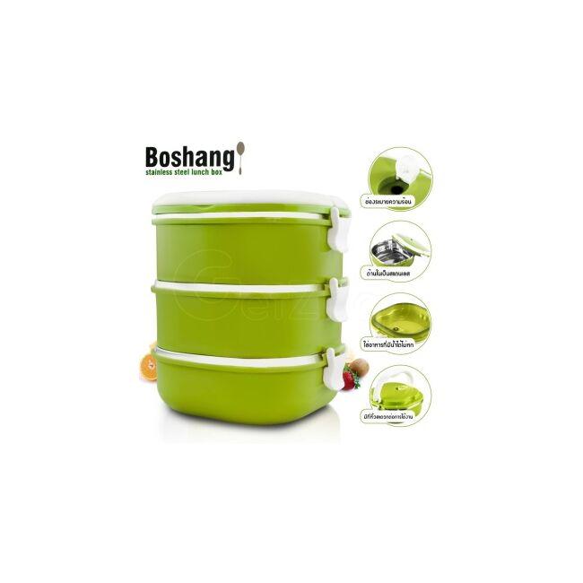 Műanyag ételhordó 3 részes (narancssárga)