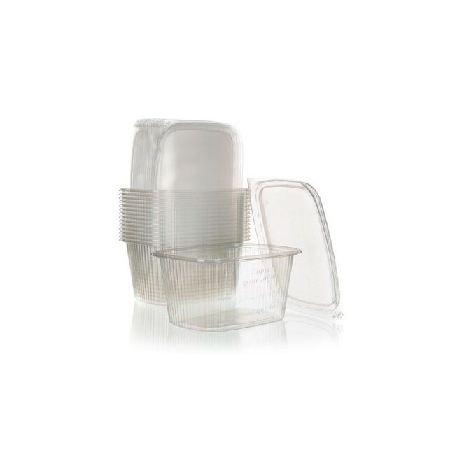 Műanyag tál fedővel 15db ( 250ml)