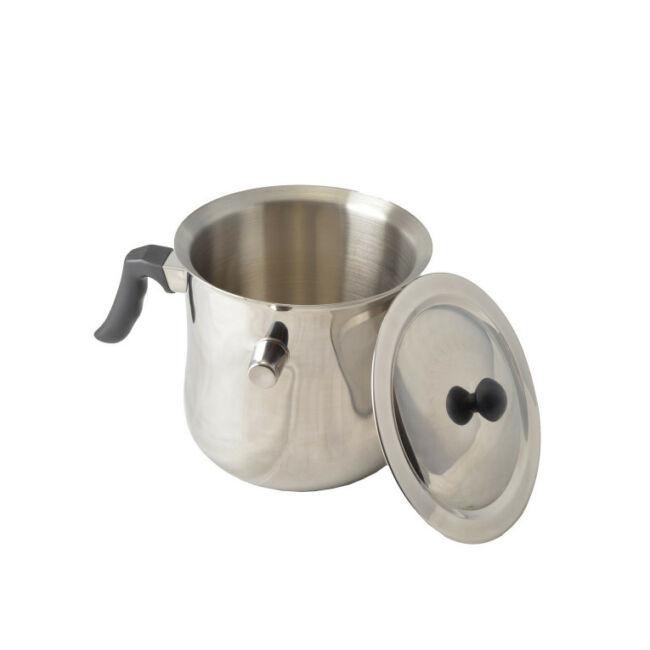 Tejforraló fedővel 3 liter