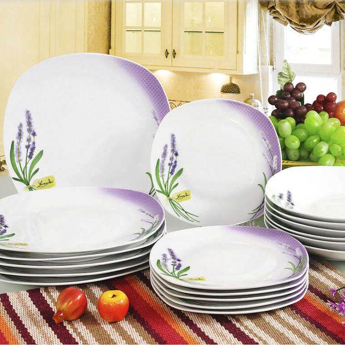 Levendula tányérkészlet 18 részes