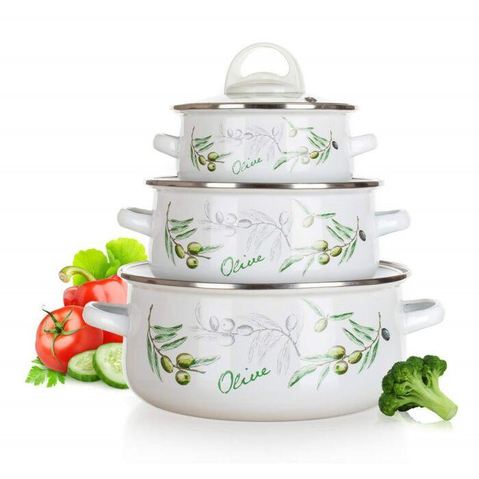 Olíva edénykészlet 6 részes