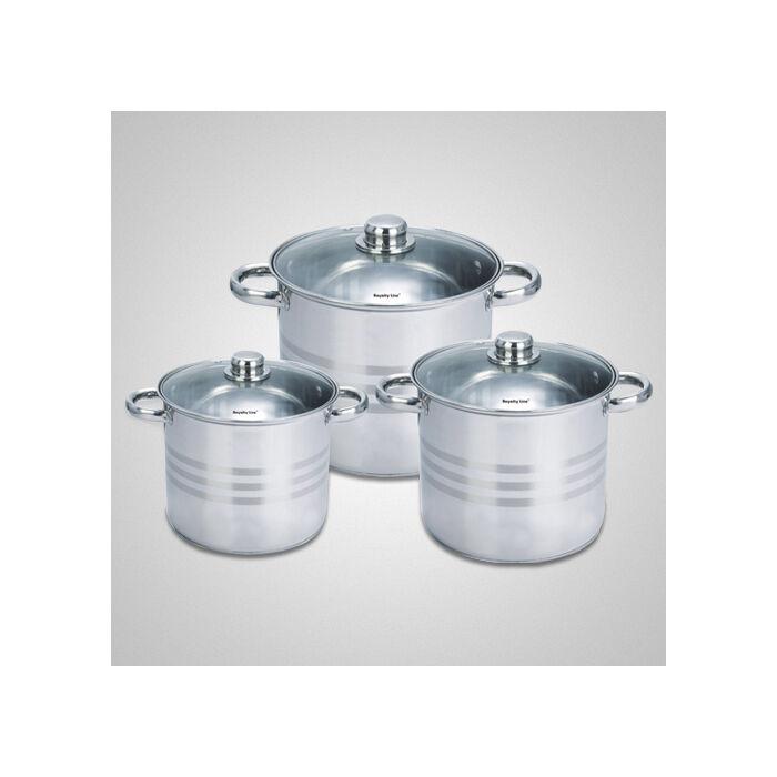 Royalty Line üvegfedős fazékkészlet 6 darabos ( 5-6-8.5 literes )