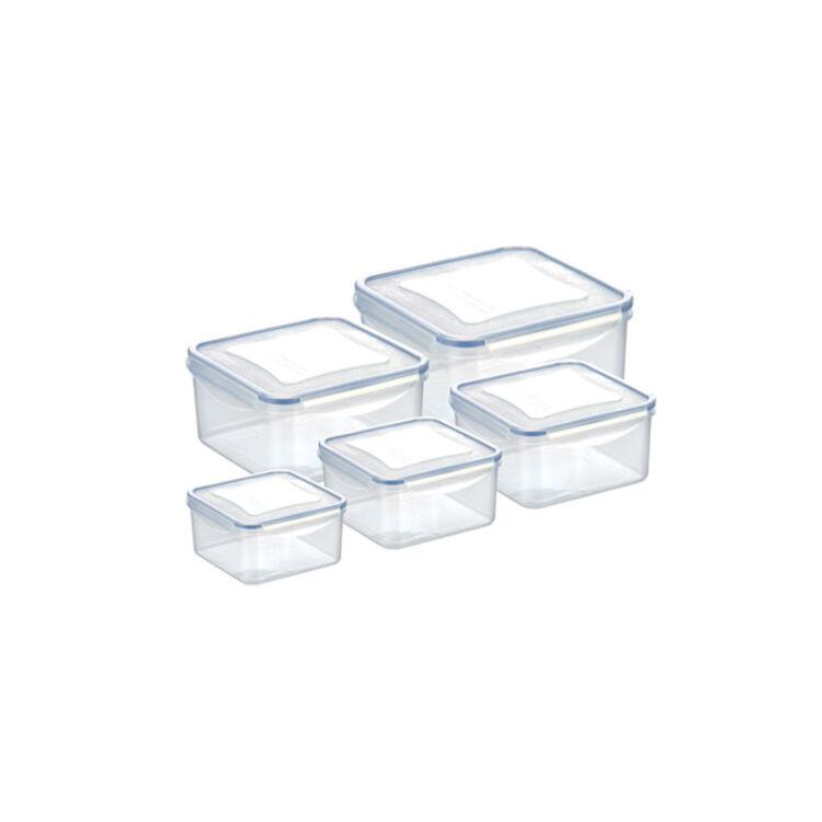 Műanyag csatos tároló 10 részes