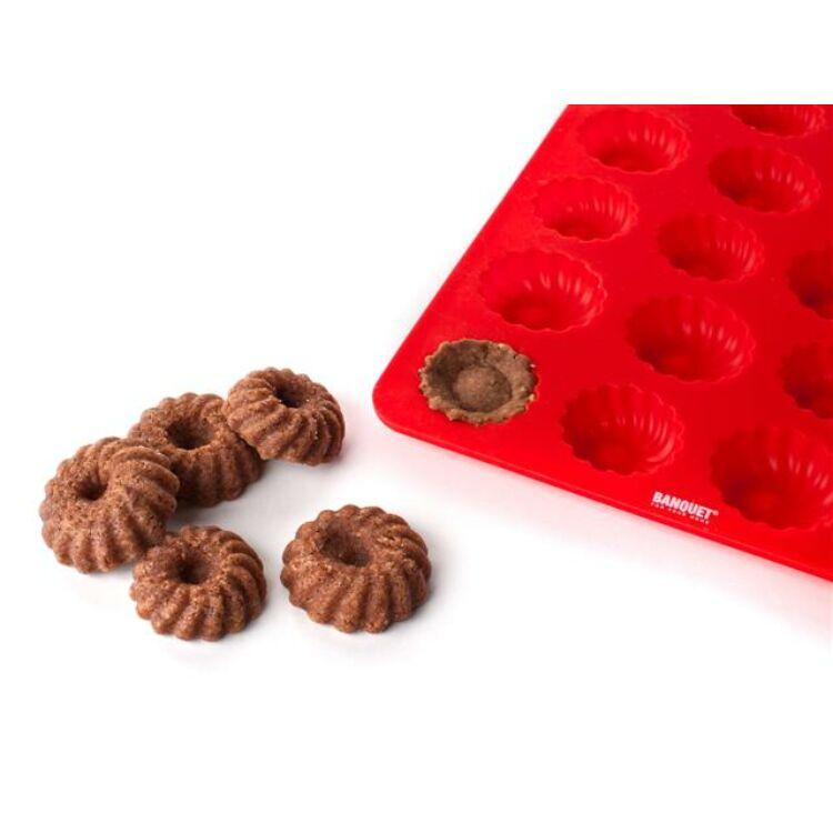 Szilikon minikuglóf sütőforma 24 darabos
