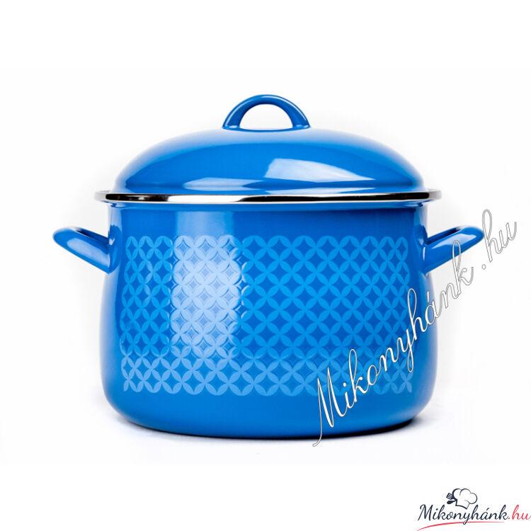 Bonyhádi zománcozott kék fazék 3 Liter