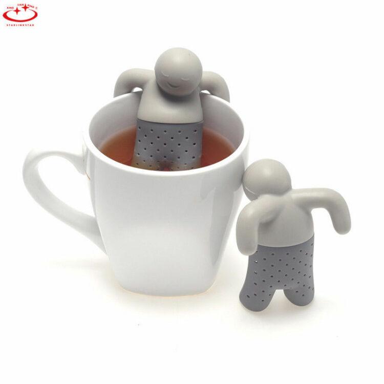 Szilikon teafilter ember alak